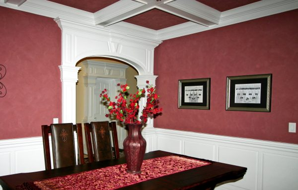 Dining Room with Statement Moulding