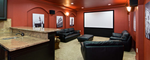 Theater Room with Kitchenette