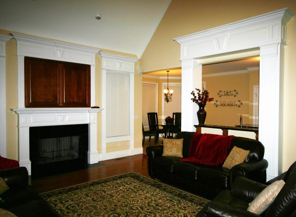Decorative Pediments and Fireplace Moulding