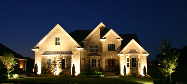 Custom Home at Night
